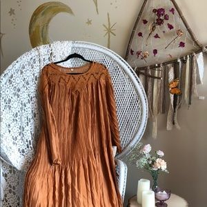 Dresses & Skirts - Burnt orange bohemian dress